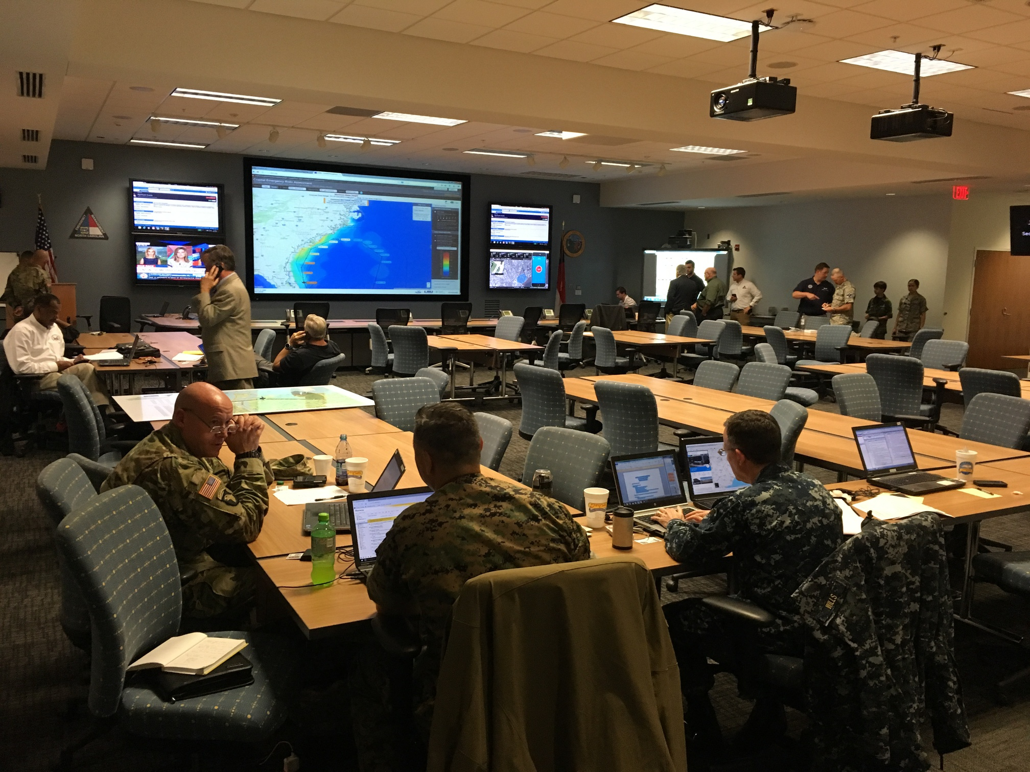 The CERA website is used during Hurricane Matthew preparations at the NCEM Emergency Operations Center.